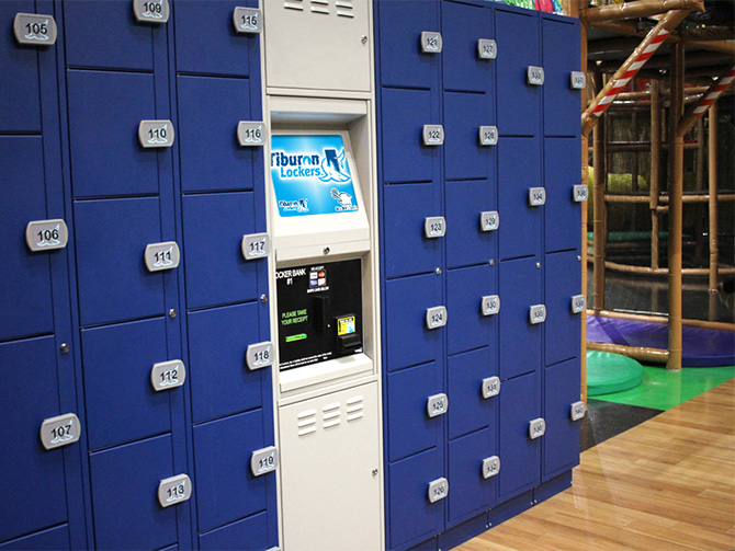 Tiburon Lockers at Family Entertainment Centers