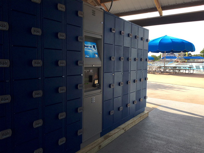 Tiburon Lockers at Water Parks