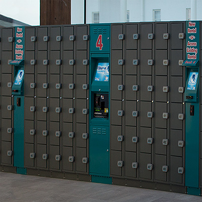 Tiburon Lockers Multiple kiosks Rapid Rental Rails